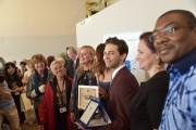 Xavier Dolan, alors qu'il reçoitle prix oecuménique pourJuste... (CTVM, Jean-Pierre Tadros) - image 1.0