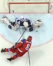 Alex Ovechkin a dirigé cinq tirs vers le... (Alexander Nemenov, AFP) - image 2.0
