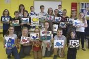 Les 18 élèves d'Isabelle Pedneault, de l'école La... (Photo Le Progrès-dimanche, Mélissa Viau) - image 2.0