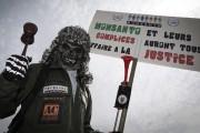 Un manifestant lors de la marche contre Monsanto... (Agence France-Presse, Joel Saget) - image 4.0