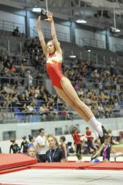 Les centaines de gymnastes en action rivalisent de... (Photo Le Progrès-dimanche, Gimmy Desbiens) - image 2.0