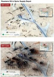 Des images satellitaires montrent qu'une base aérienne en... (IMAGES STRATFOR/BBC) - image 1.0