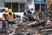 Les débris sont nombreux sur le terrain de... (Stéphane Lessard, Le Nouvelliste) - image 1.0