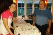 ANNIE et PATRICK LADOUCEUR devant le traditionnel gâteau... - image 5.0