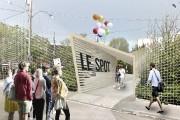 La trappe-publique imaginée pour l'entrée du SPOT, dans... (Fournie par le SPOT) - image 3.0