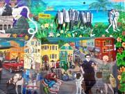 Une murale qui dénonce les effets de l'embourgeoisement... (PHOTO SIMON CHABOT, LA PRESSE) - image 1.0