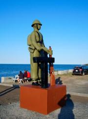 Le soldat tel que repeint par la municipalité.... (Photo fournie par Claude Rioux) - image 1.0