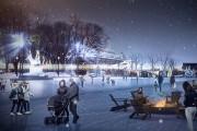 La place Jean-Béliveau l'hiver... (Photo fournie par la Ville de Québec) - image 4.0