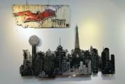 Les silhouettes de bâtiments composent une oeuvre de... (Le Soleil, Pascal Ratthé) - image 2.0