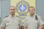 Les policiers de la Sûreté du Québec Sylvain... (Le Quotidien, Gimmy Desbiens) - image 2.0