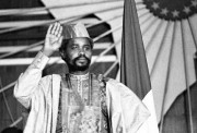 Hissène Habré photographié en août 1983.... (PHOTO JOEL ROBINE, ARCHIVES AFP) - image 2.0