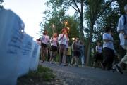 Plus de 600 personnes ont marché toute la... (Olivier Croteau) - image 3.0