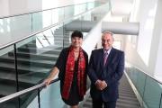 Jacques Parisien avec Nathalie Bondil, directrice et conservatrice... (PHOTO Martin Chamberland, LA PRESSE) - image 1.0