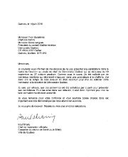 La lettre annonçant la décision de Paul Shoiry.... - image 2.0