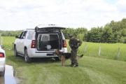 Le maître chien a participé aux interventions policières... (Photo Le Quotidien, Isabelle Tremblay) - image 1.0