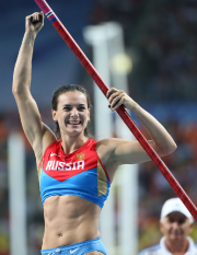 La perchiste Yelena Isinbayeva, le visage de l'athlétisme... (Photo Franck Fife, archives AFP) - image 2.0
