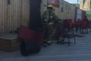 Le feu qui s'était déclaré sur la terrasse... (Paule Vermot-Desroches) - image 2.0