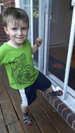 Octave, quatre ans, se sert aisément de la... (Éric Gagnon) - image 1.0