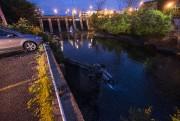 Une voiture a sombré dans la rivièreMagog, derrière... (Spectre Média, Julien Chamberland) - image 1.0