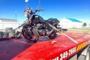 Un jeune motocycliste de Roberval a subi des... (Photo courtoisie, Remorquage Lajoie Auto) - image 1.0