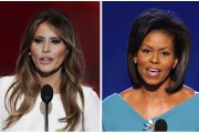 Melania Trump, à gauche, la femme du républicain... (AP) - image 3.0