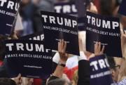 Des délégués républicains manifestaient leur appui à Donald... (AFP, Timothy A. Clary) - image 3.0