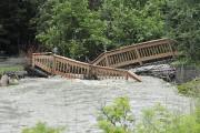 La rivière la Loutre, de Saint-Fulgence, a débordé,... (Photo Le Quotidien, Rocket Lavoie) - image 1.0