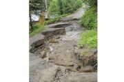 Le chemin Morin de Saint-Ambroise a été lourdement... (Photo Le Quotidien, Gimmy Desbiens) - image 1.1