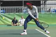 Serena Williams à l'entraînement... (AFP, Andrew Caballero-Reynolds) - image 4.0