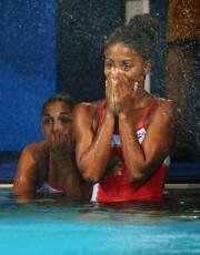 Les plongeuses québécoises Pamela Ware et Jennifer Abel... (PHOTO KAI PFAFFENBACH, REUTERS) - image 1.0