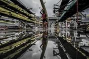 Le mauvais temps a forcé l'annulation des compétitions... (AFP, Jeff Pachoud) - image 3.0