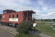 Le wagon de queue (caboose) amarré au Parc... (Le Soleil, François Bourque) - image 9.0