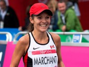 Canada's Lanni Marchant smiles after racing to a... - image 1.1