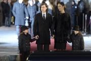Céline Dion entourée de ses fils aux funérailles... (La Presse, Bernard Brault) - image 2.0