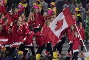 Rosie MacLennan avait agi comme porte-drapeau du Canada... (La Presse canadienne, Frank Gunn) - image 2.0