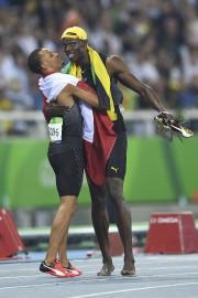 Quelques secondes après la course, le médaillé de... (AFP, Johannes Eisele) - image 2.0