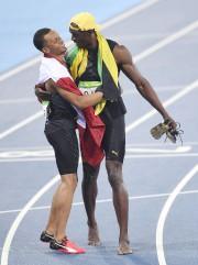 Andre De Grasse et Usain Bolt se sont... (PHOTO MARTIN MEISSNER, AP) - image 1.1