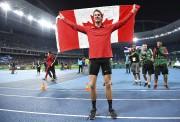 Derek Drouin a remporté l'épreuve du saut en... (AFP, Franck Fife) - image 2.0