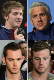 Les nageurs James Feigen (en haut à gauche),... (AFP) - image 1.0