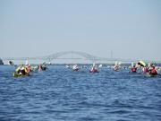 Tout l'après-midi, les kayakistes ont fait route avec... (Collaboration spéciale Jean-Sébastien Massicotte) - image 2.0