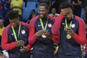 Les Américains Kyle Lowry, Kevin Durant et DeAndre... (AFP, Mark Ralston) - image 2.0
