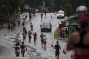 La pluie a fait partie du paysage, dimanche,... (Photo La Presse, Hugo-Sébastien Aubert) - image 1.0