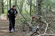Le sergent Jean-Paul LeMay passe devant l'endroit où... (Patrick Woodbury, LeDroit) - image 1.0