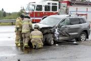 L'accident qui est survenu mardi après-midi a fait... (Photo Le Quotidien, Jeannot Lévesque) - image 1.0
