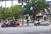 L'un des conducteurs aurait percuté l'automobile d'un citoyen,... (PHOTO PATRICK SANFACON, LA PRESSE) - image 1.0