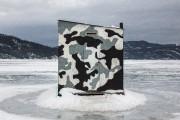 Cette cabane «camouflage» a été prise à L'Anse-Saint-Jean,... (Claude Guérin) - image 2.1