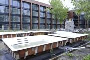 Des spas seront aménagés dans la cour extérieure.... (Photo Le Progrès-Dimanche, Rocket Lavoie) - image 1.0