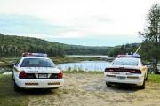 Les policiers ont effectué des recherches samedi et... (Andréanne Lemire) - image 2.0