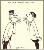 Voici la caricature intitulée Les langues officielles qui... - image 1.0
