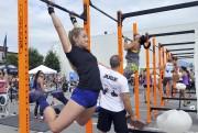 Le CrossFit est très exigeant physiquement. La centaine... (Photo Le Progrès-Dimanche, Rocket Lavoie) - image 2.0
